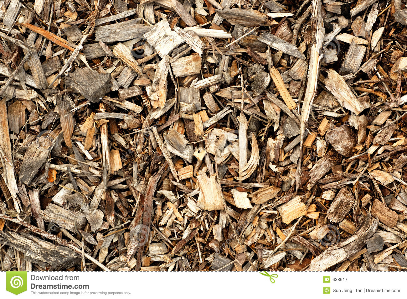 Wood chips royalty free stock photography image