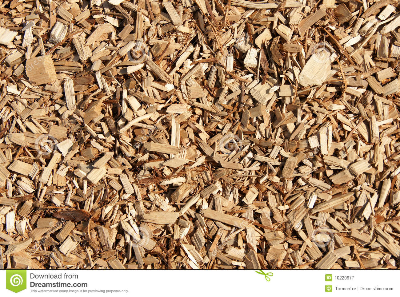 Wood chips mulch texture stock image of pine