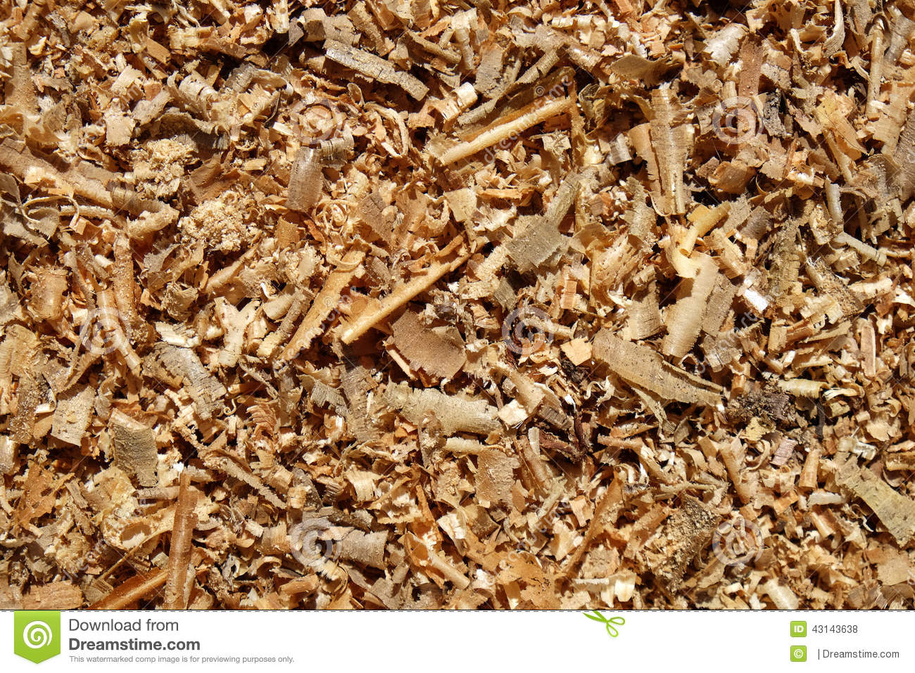 Wood shavings sawdust royalty free stock photo