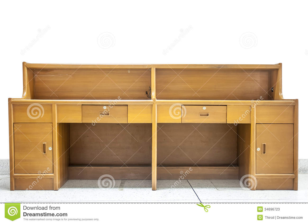 The Wood Counter Office. Stock Photos - Image: 34696723