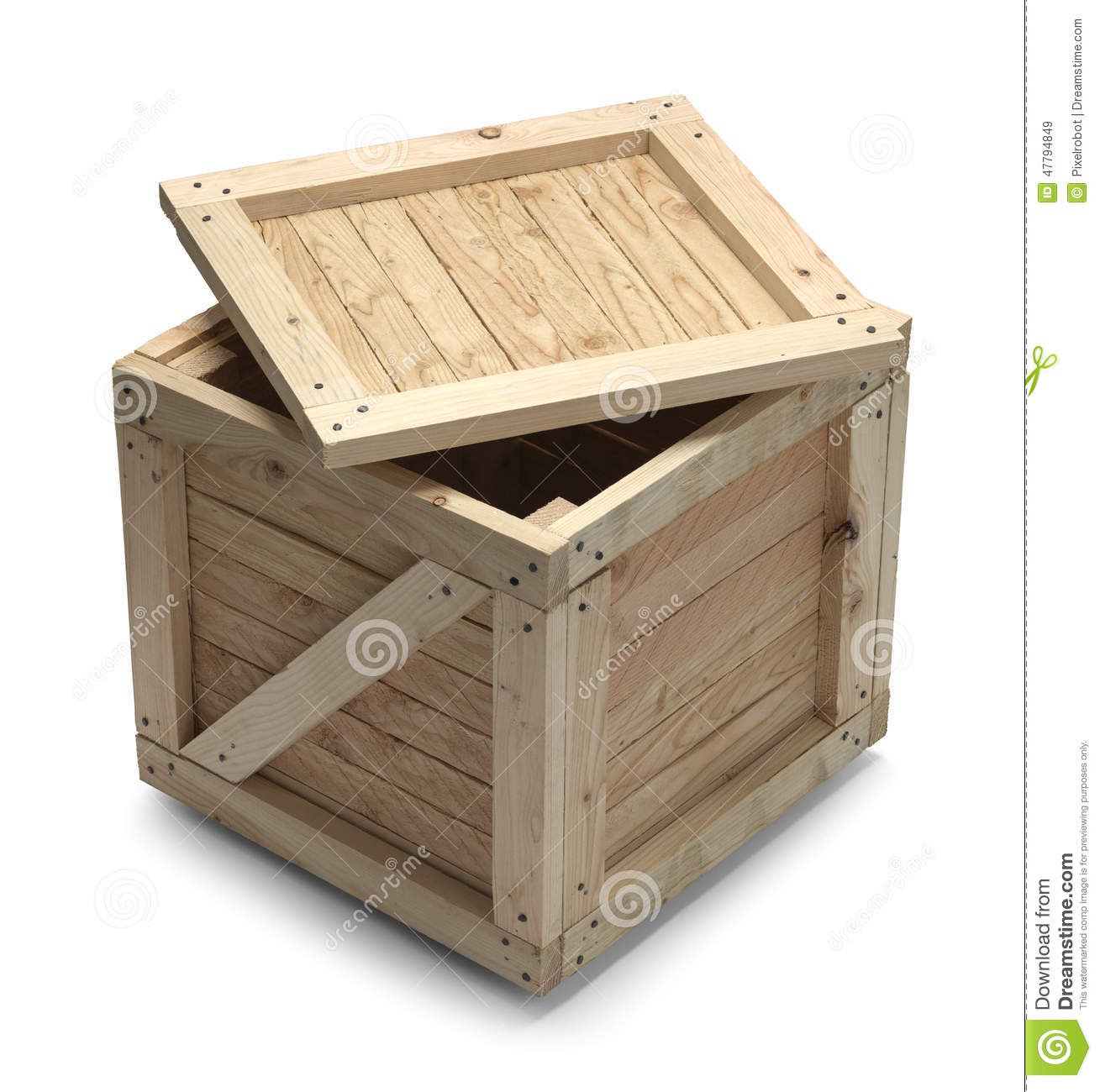 Wood Crate And Lid Stock Image Image Of Business Carton