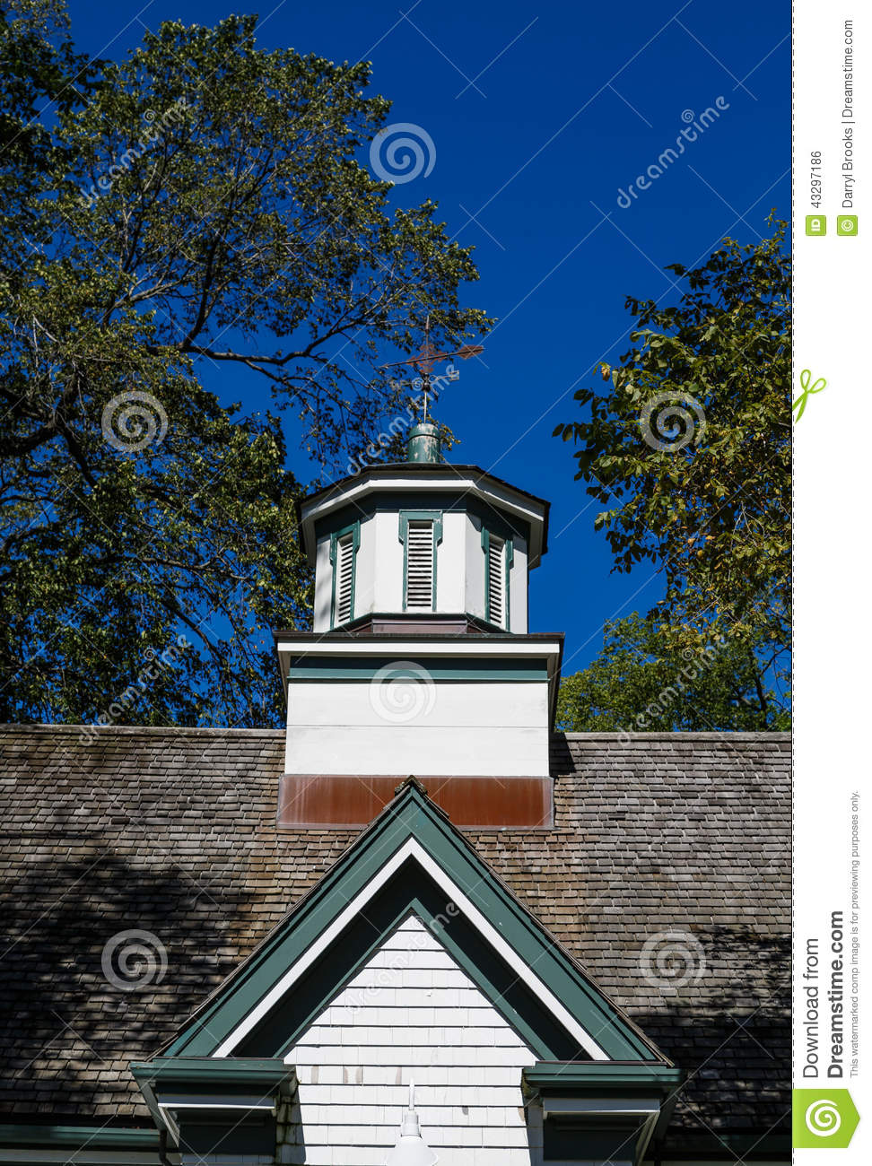 Wood cupola under blue skies stock photo image 43297186 for Old deep house