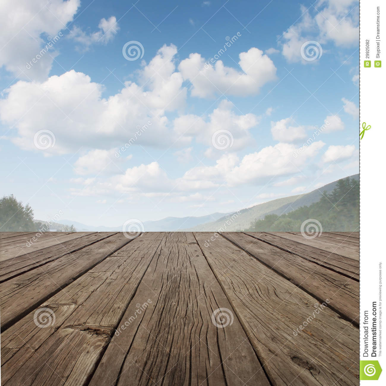 Wood Deck Stock Photo Image Of Back Buildings Copy
