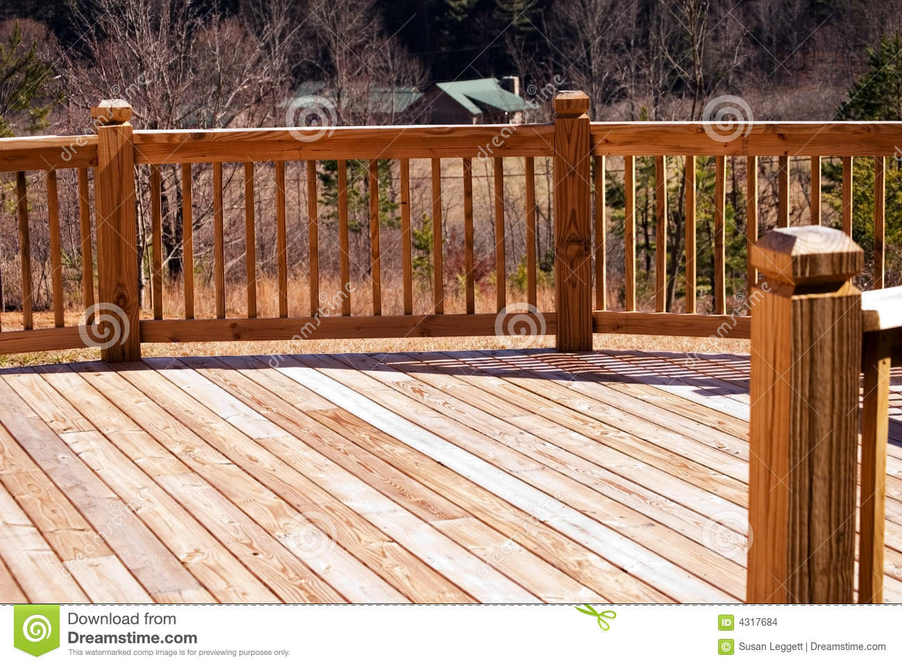 Wood deck / house in distance