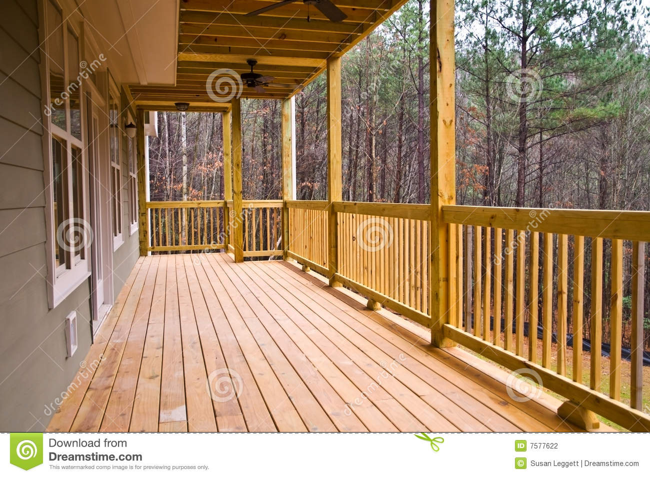 Wood Deck/Porch on House