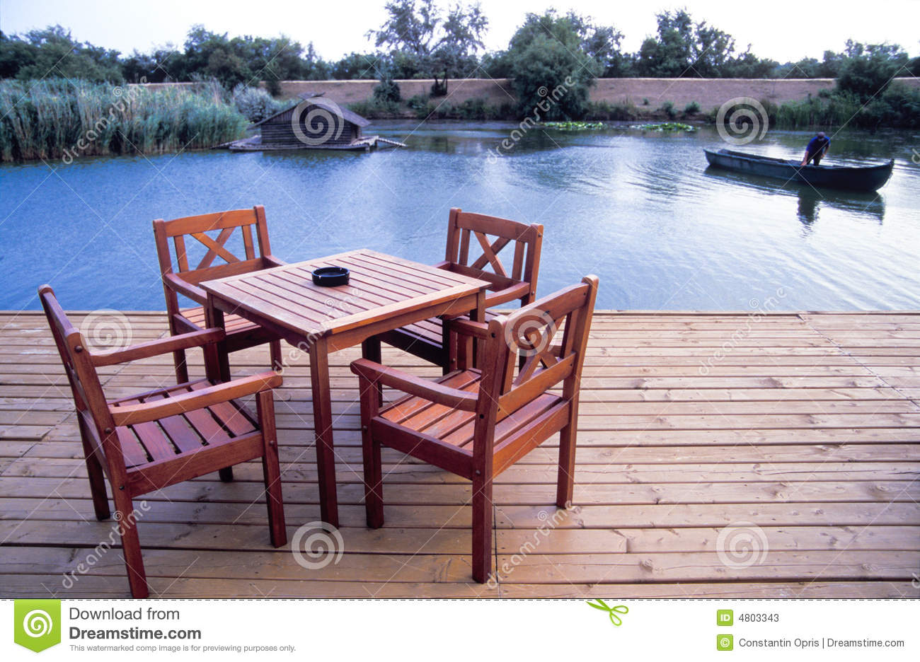 Wood Deck With Table Stock Photos - Image: 4803343