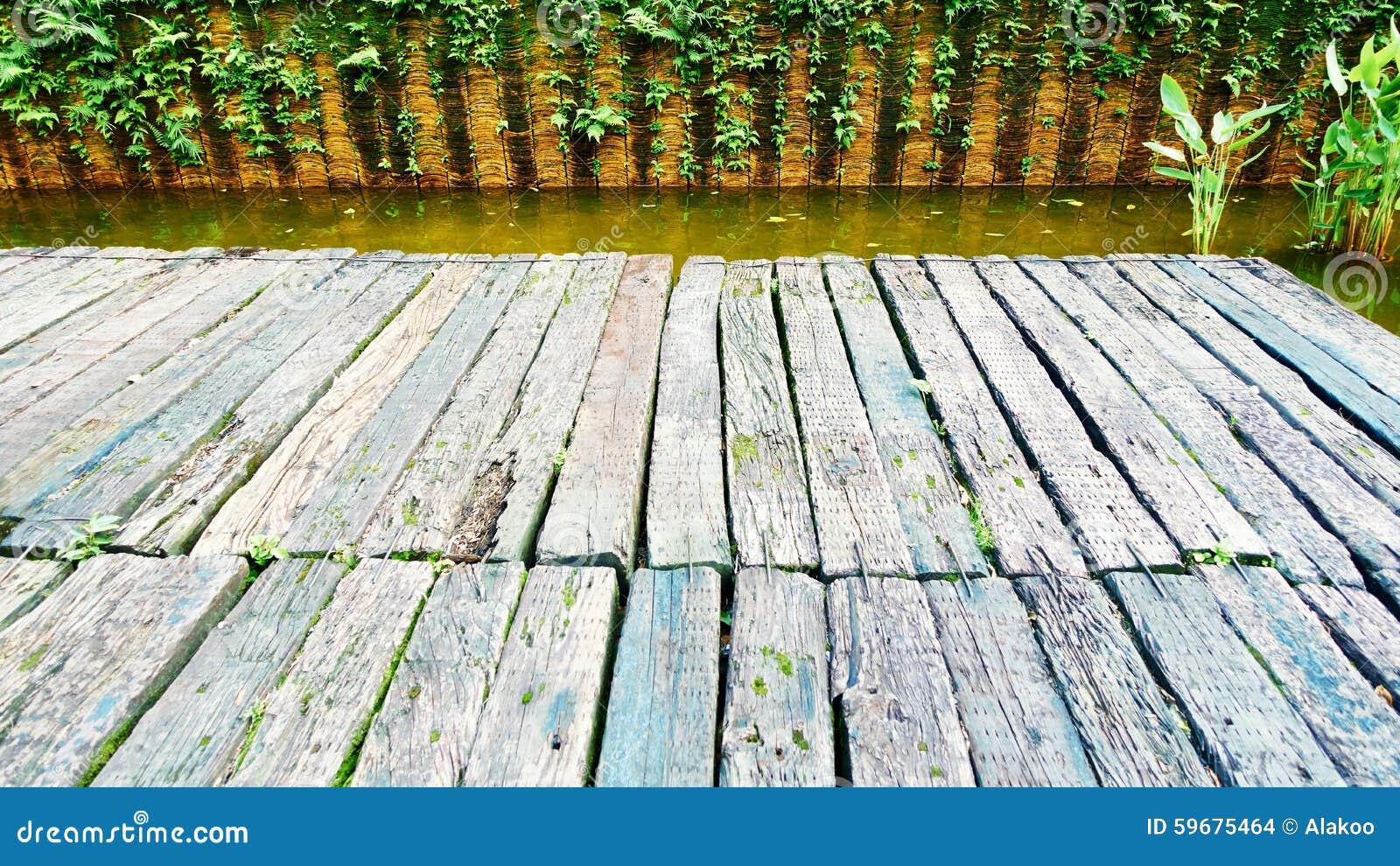 Wood deck wooden board