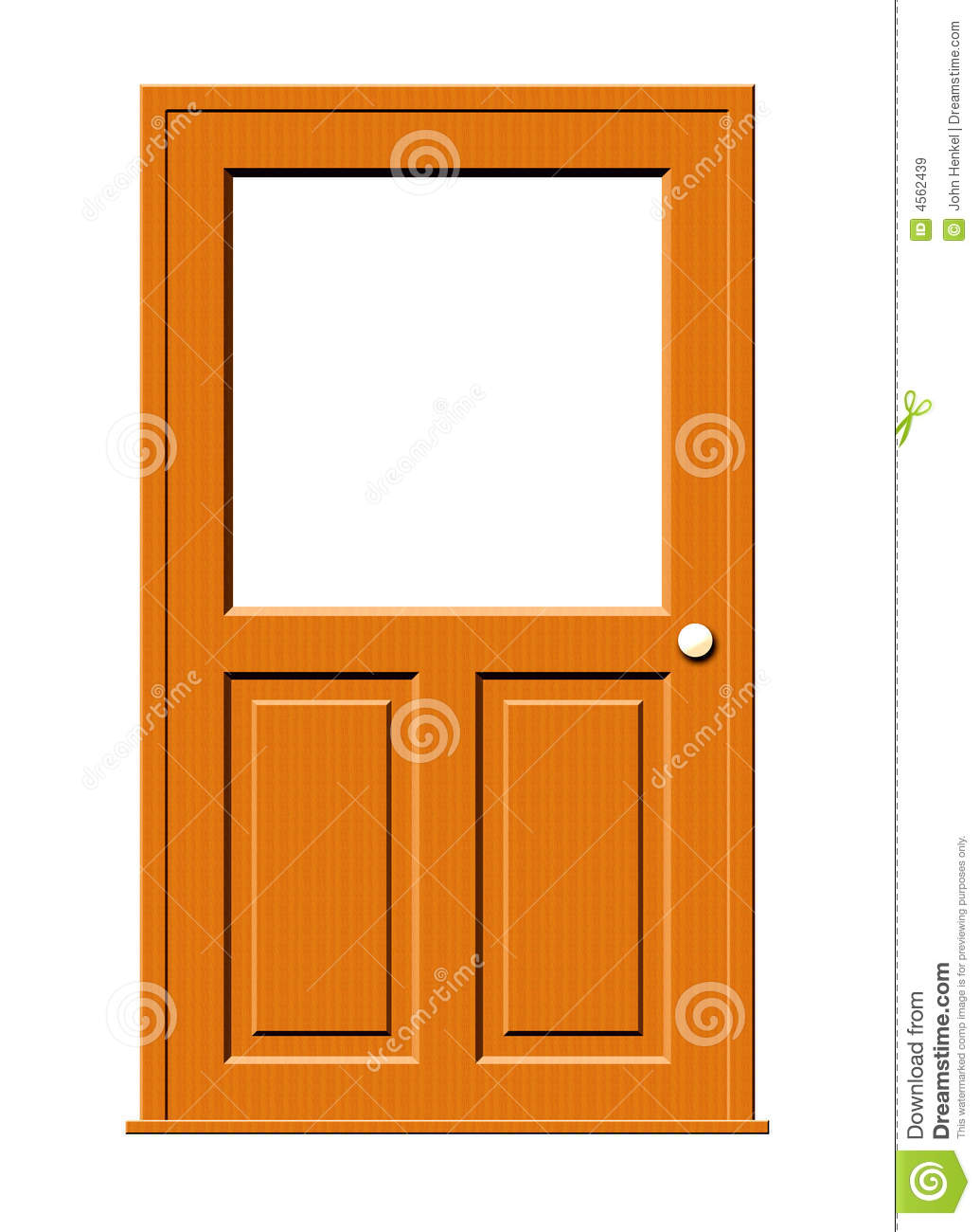 Royalty Free Stock Photo. Download Wood Door With Blank Window ...