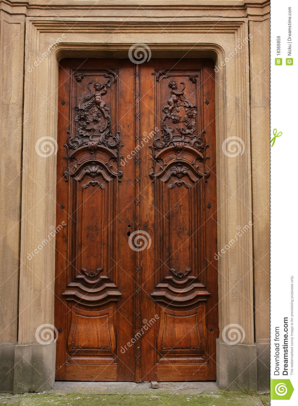 Royalty-Free Stock Photo & Wood door detail stock image. Image of history artistic - 18366859