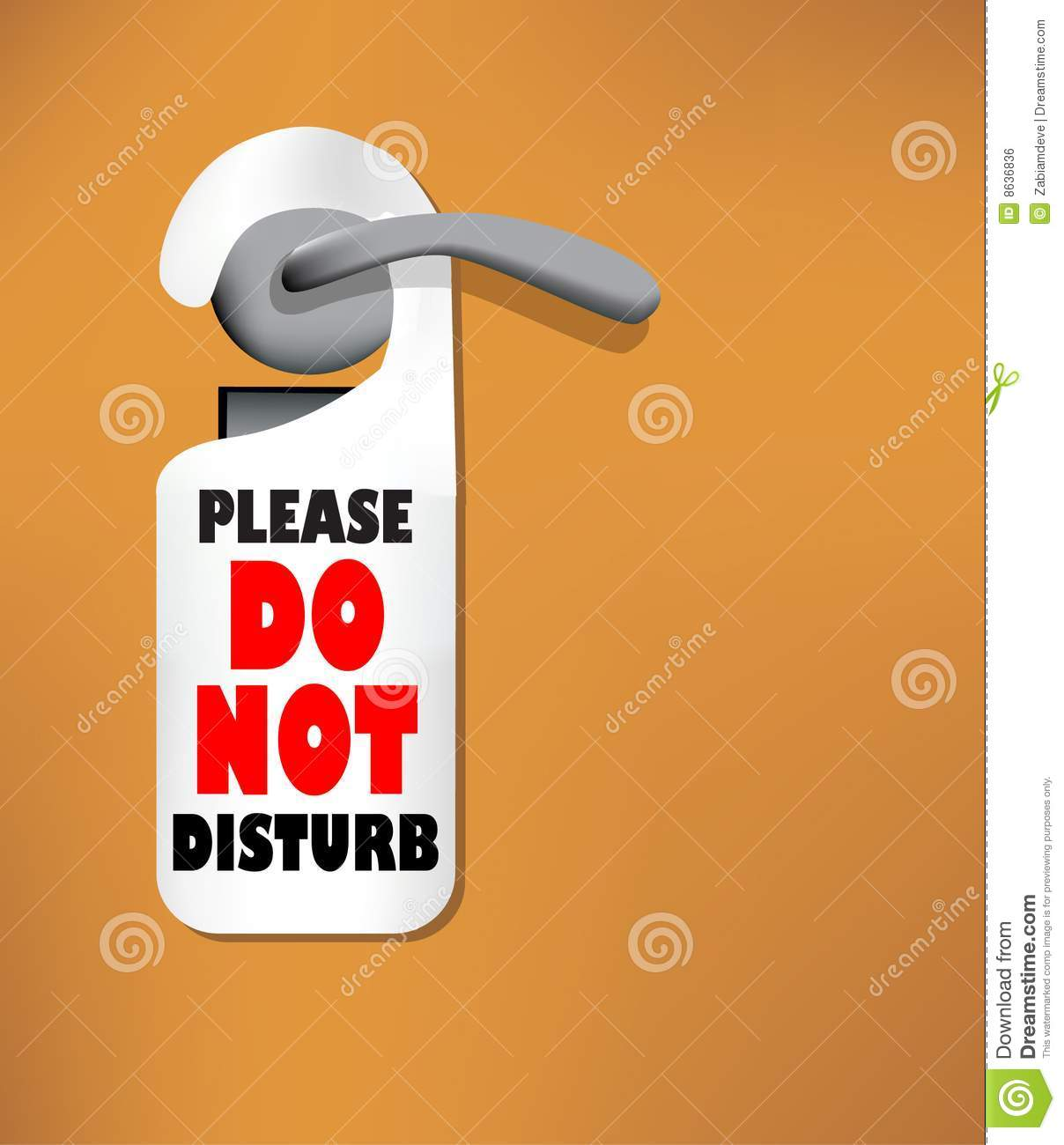 Wood Door With A Do Not Disturb Sign Royalty Free Stock