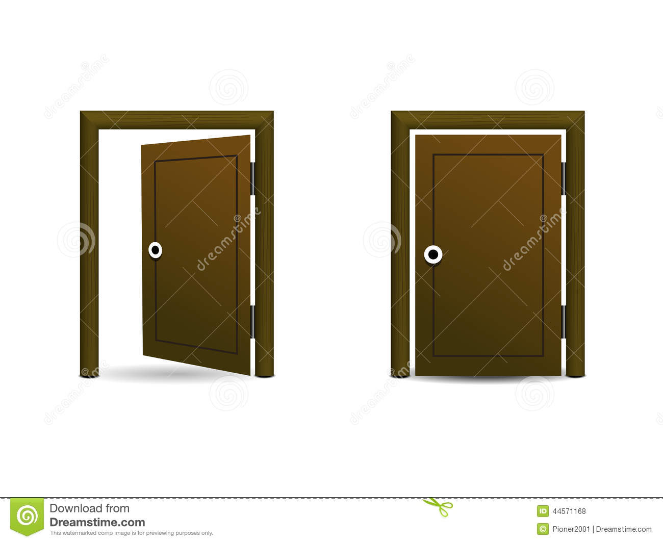 Open door closed door - Background Door Icon Open