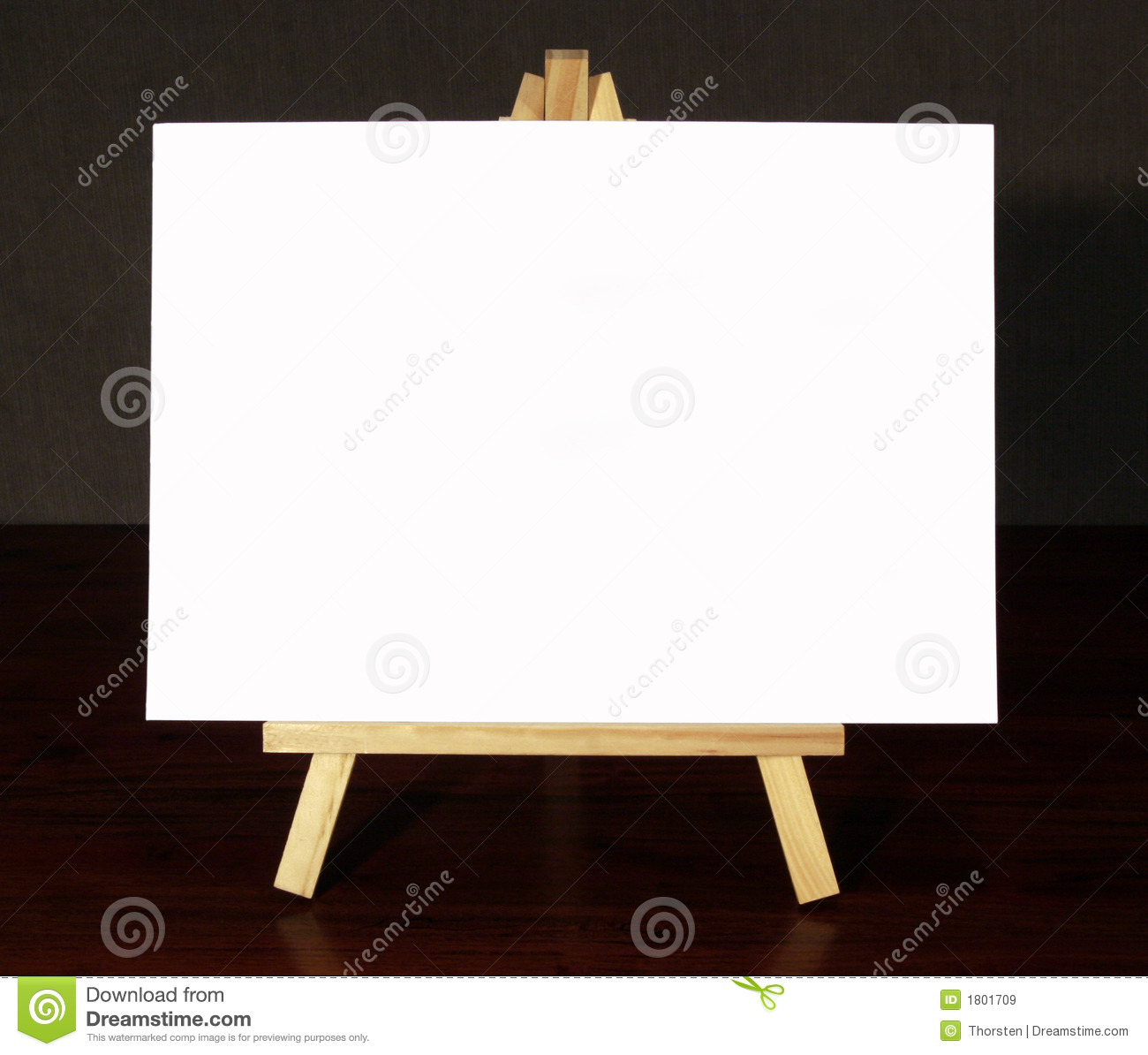 Wood Easel With White Canvas Stock Image Image Of Canvas
