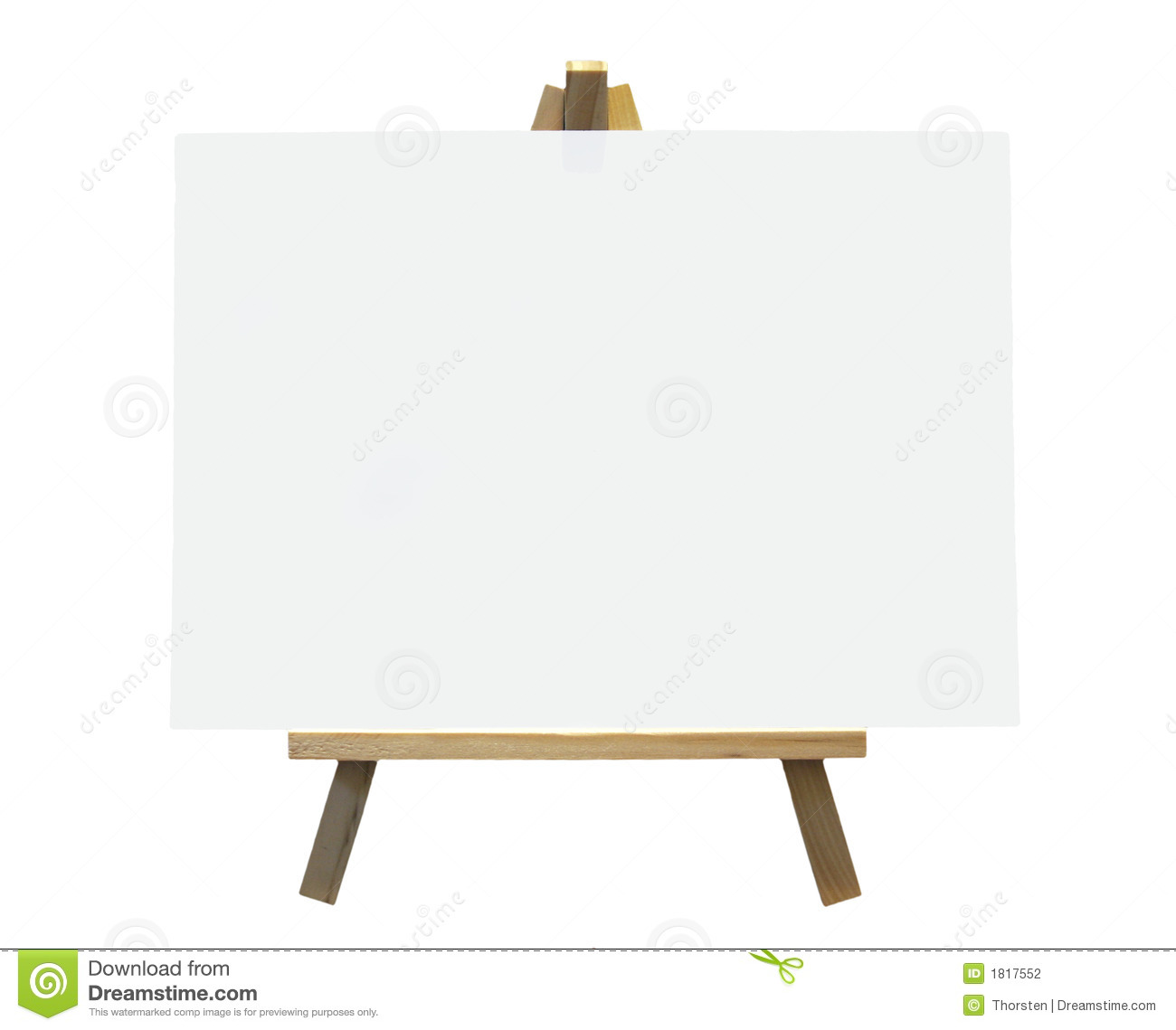 Wood Easel With White Canvas Stock Photography - Image: 1817552