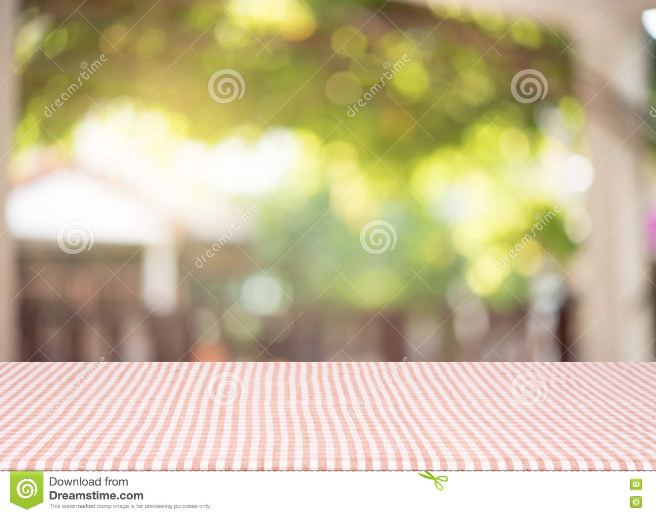 Wood Empty material wooden, deck, table with blurred abstract ba