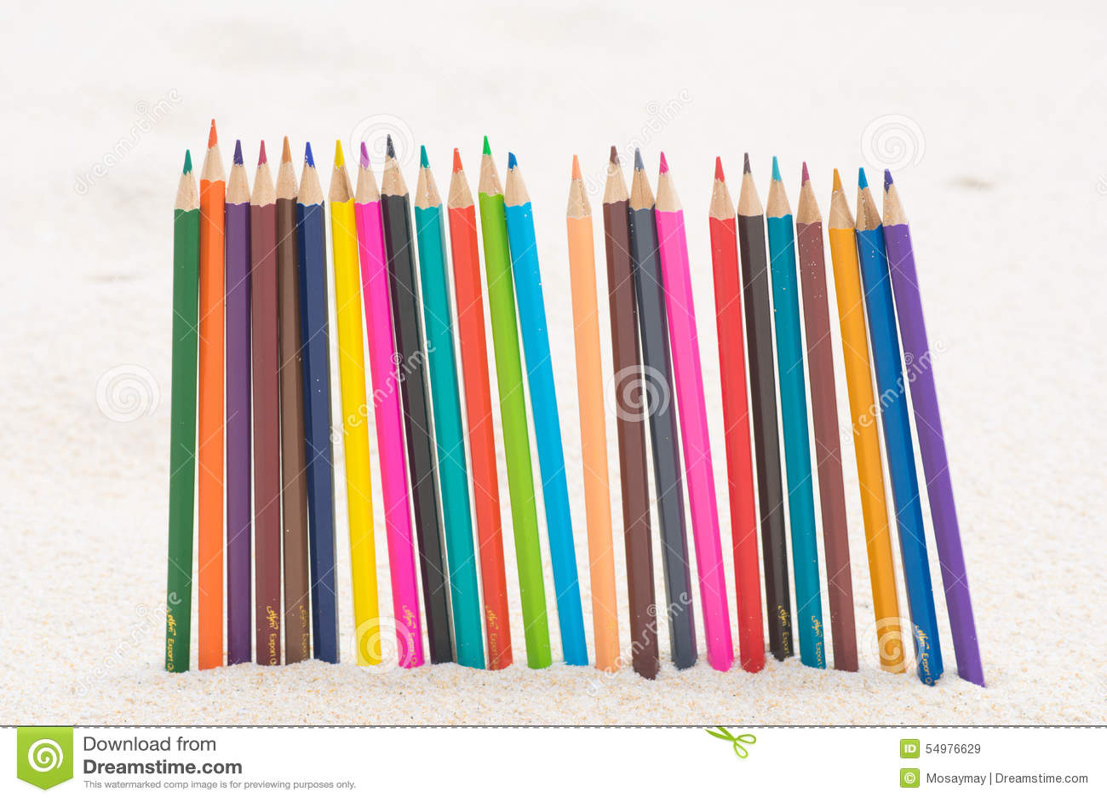 Wood färg för färgpenna på stranden