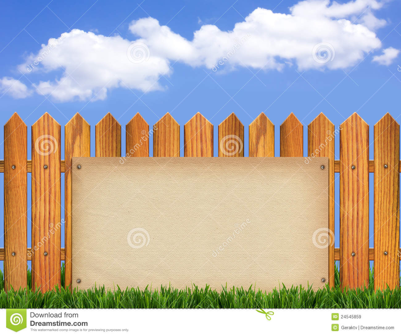 Wooden Fences Wall Paper