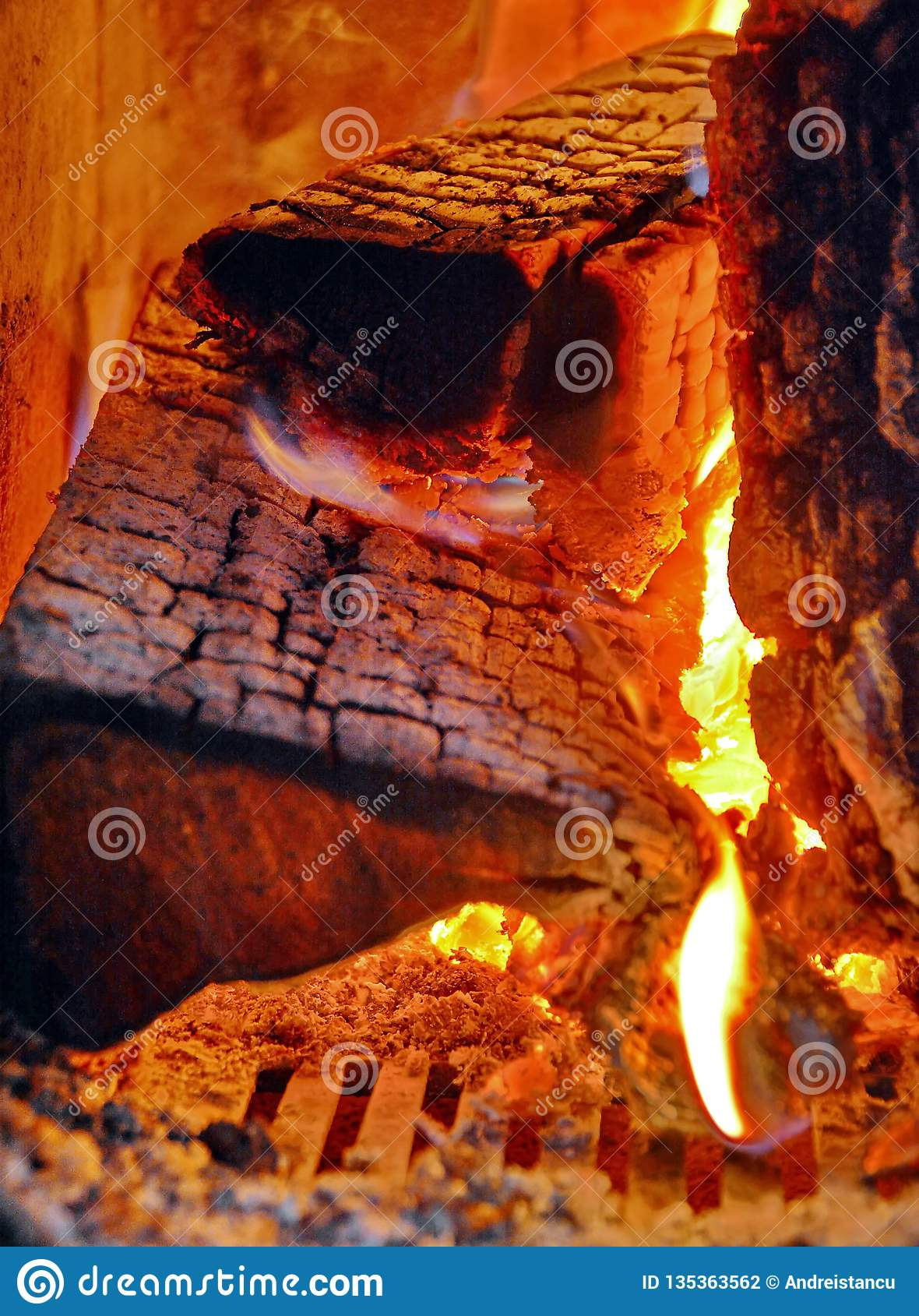 Fire of wood