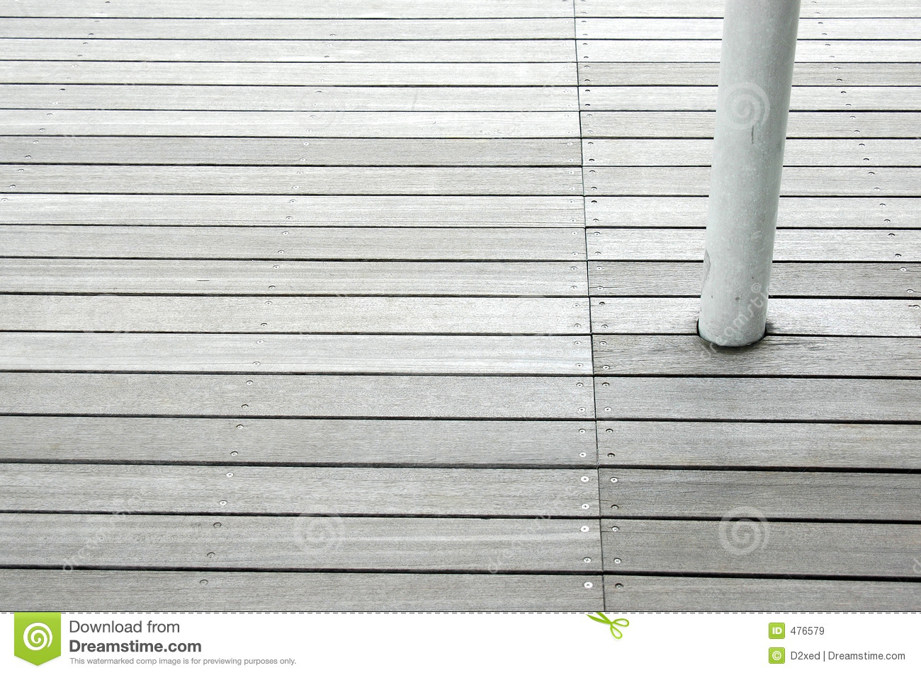 Wood floor panels with white column - Wood Floor Panels With White Column Royalty Free Stock Images