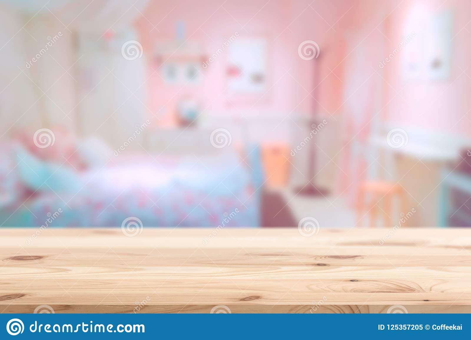 Wood Foreground With Blur Pink Lovely Bedroom Stock Image Image Of Furniture Nature 125357205