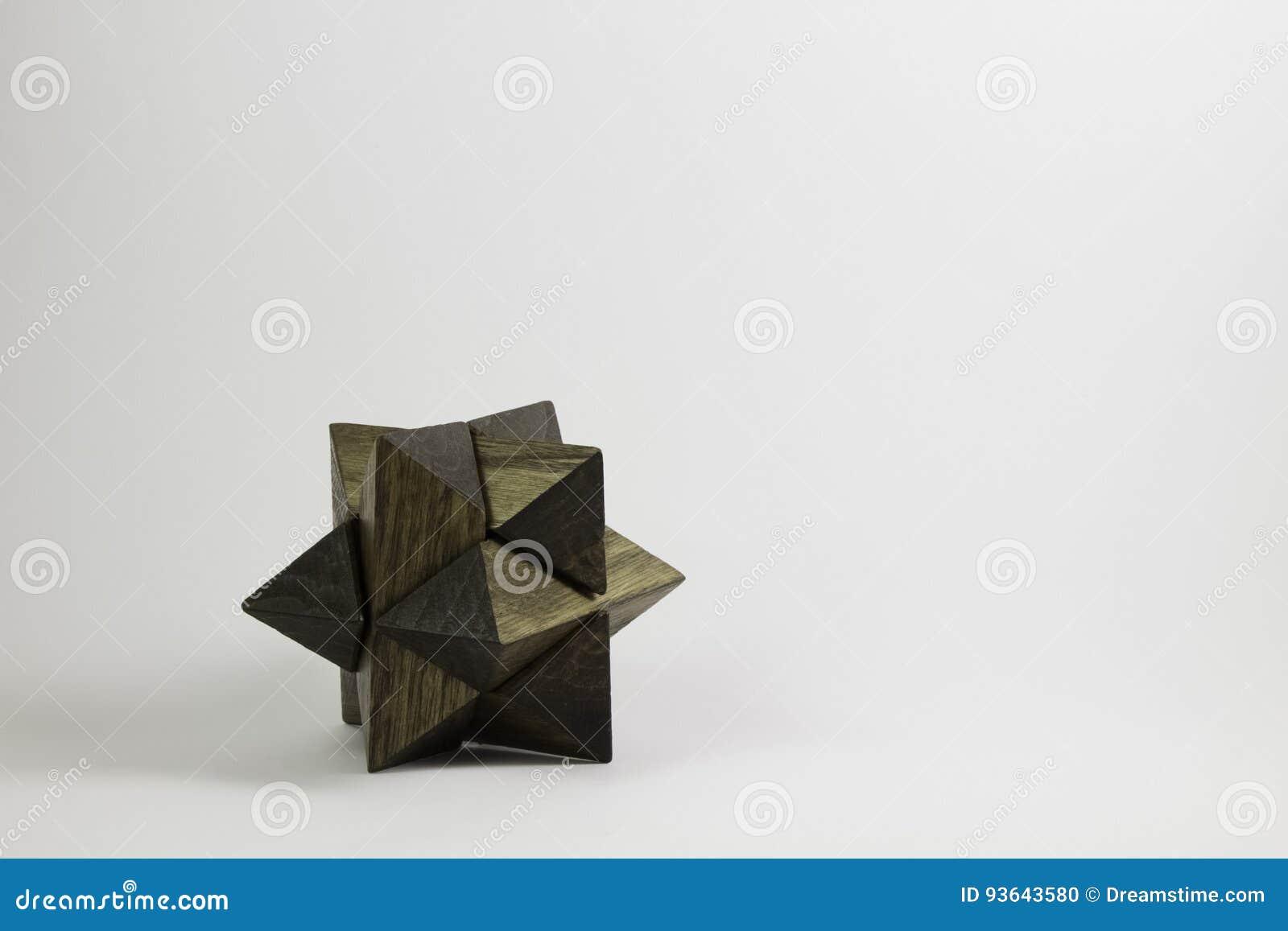 Wood formad intelligens för pussel stjärna