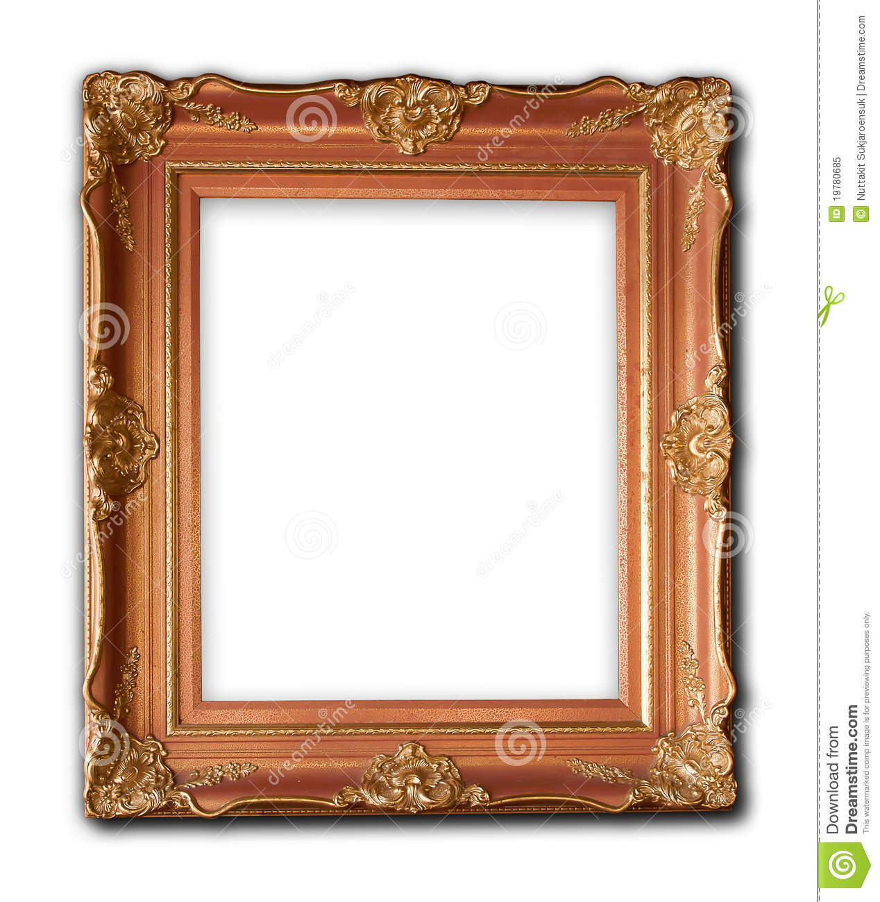 wood frame carved renaissance designs royalty free stock photo image