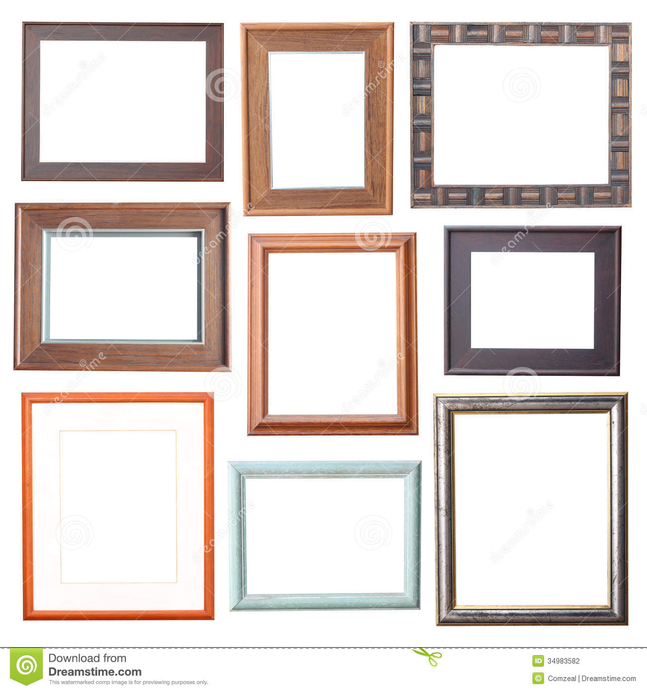 38500fba9e Wood frame Collection stock photo. Image of empty