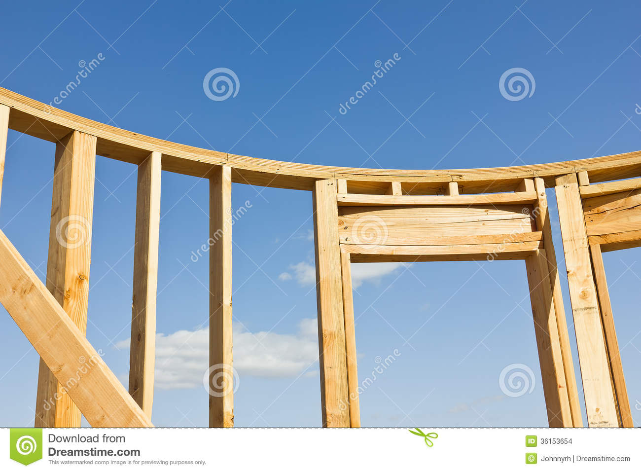 Wood Frame Wall wood frame for building stock photo - image: 36153630