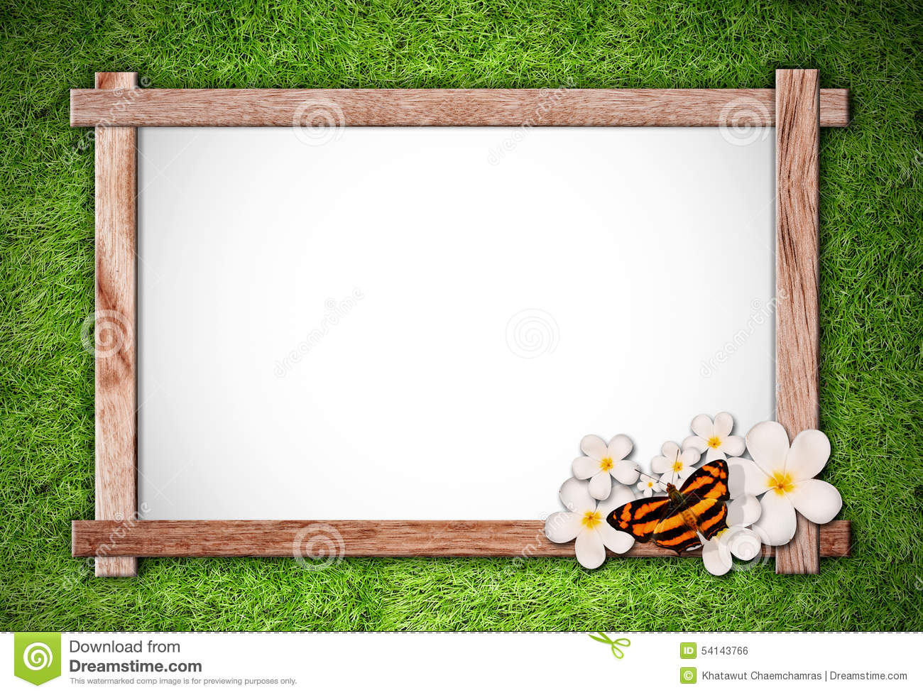 wood frame on green nature background stock illustration illustration of grass frame 54143766 dreamstime com