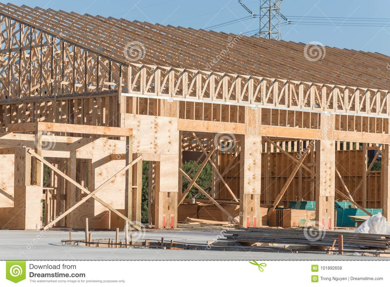 Wooden commercial building construction