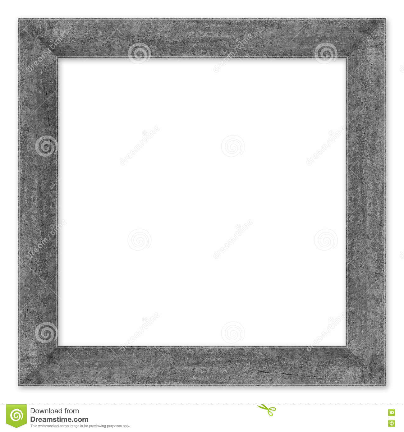 Wood frame isolated on a white