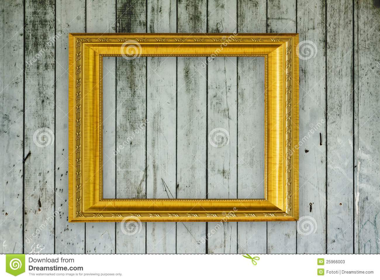 Wood Frame On Old Wooden Wall Stock Image - Image of ancient ...