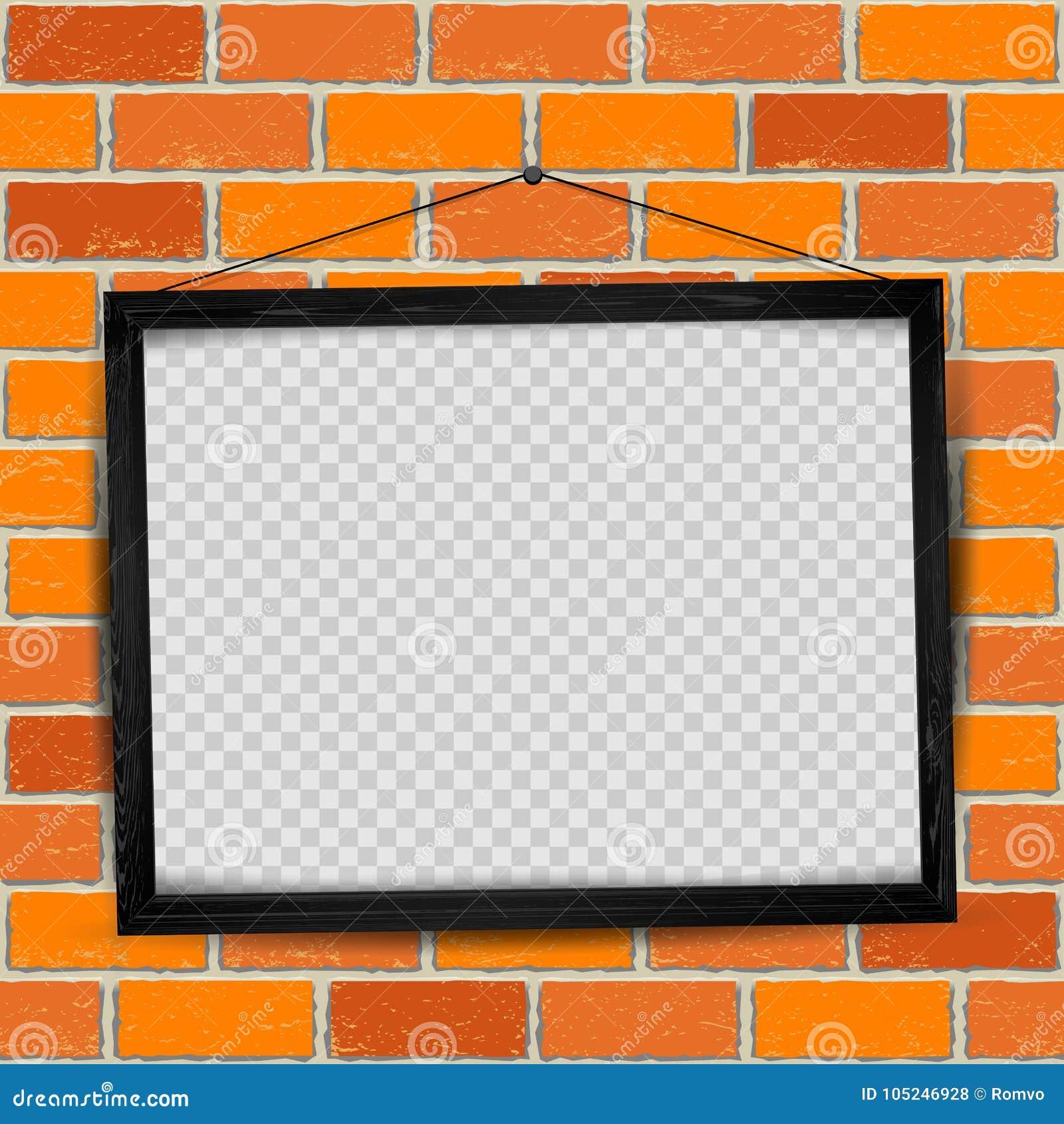 148fd0101bcc Wood frame red old brick stock vector. Illustration of background ...