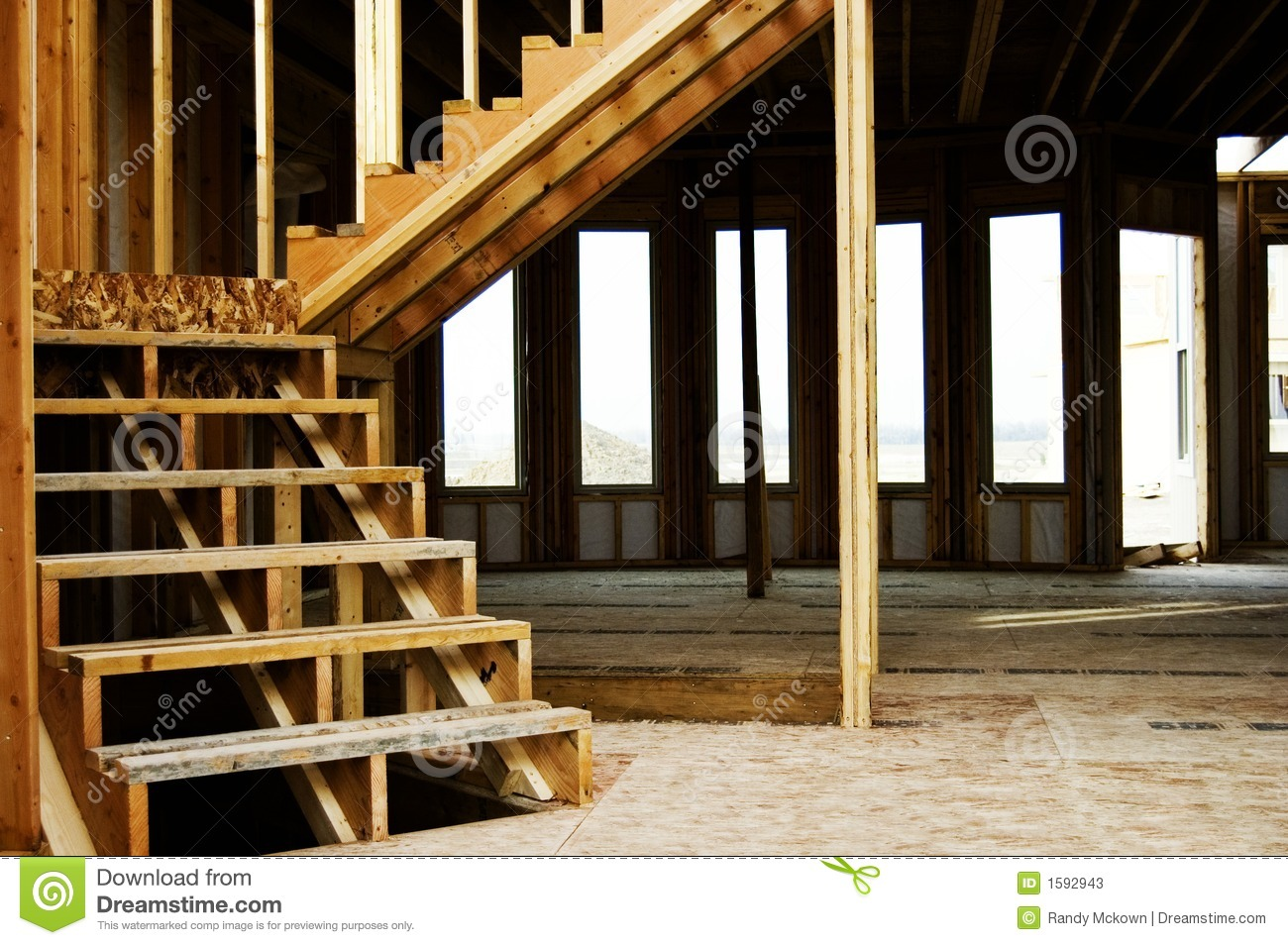 Royalty Free Stock Photo. Download Wood Frame Stairs Home Construction ...