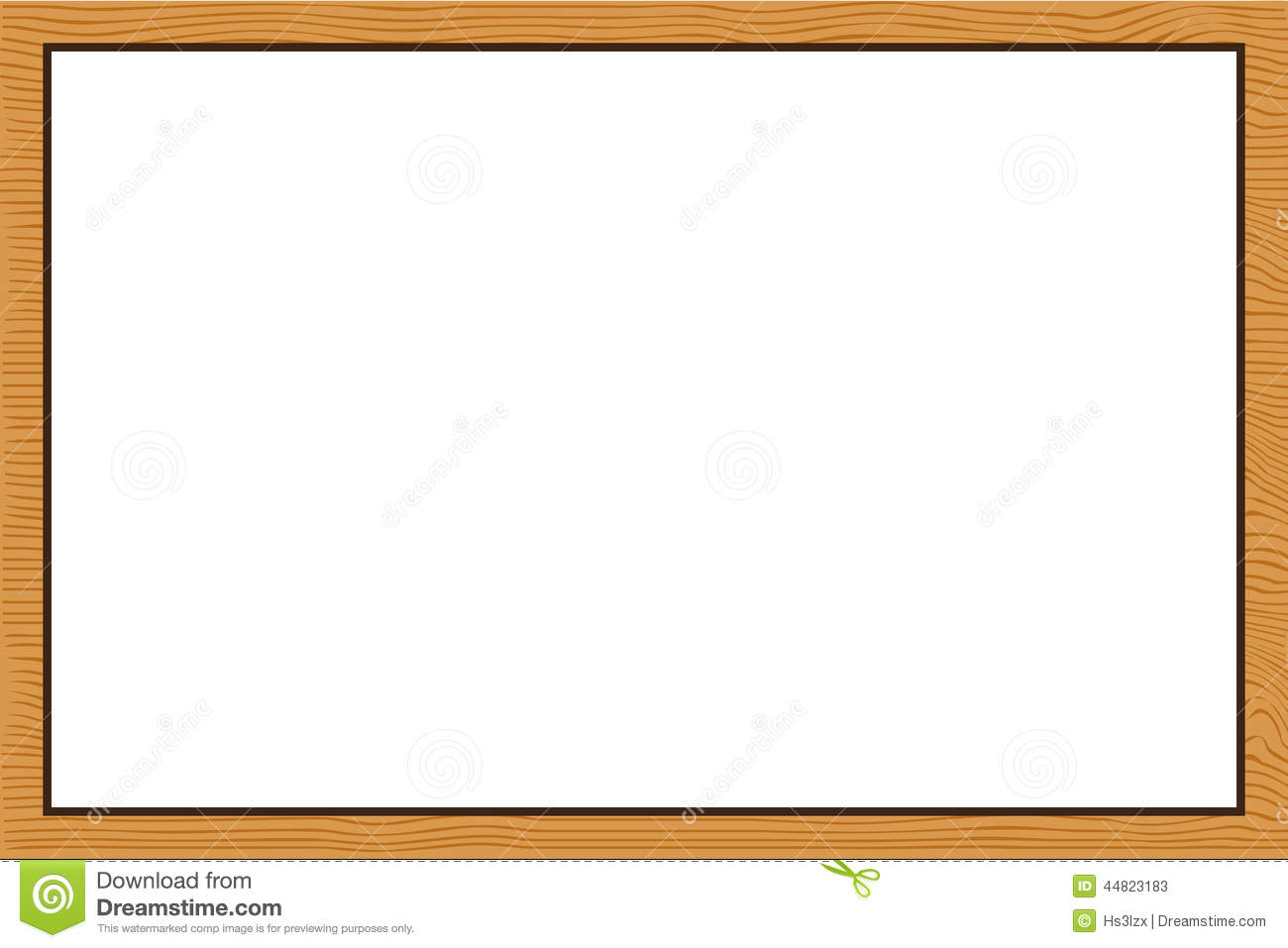 Wood Frame Texture Stock Vector Image 44823183