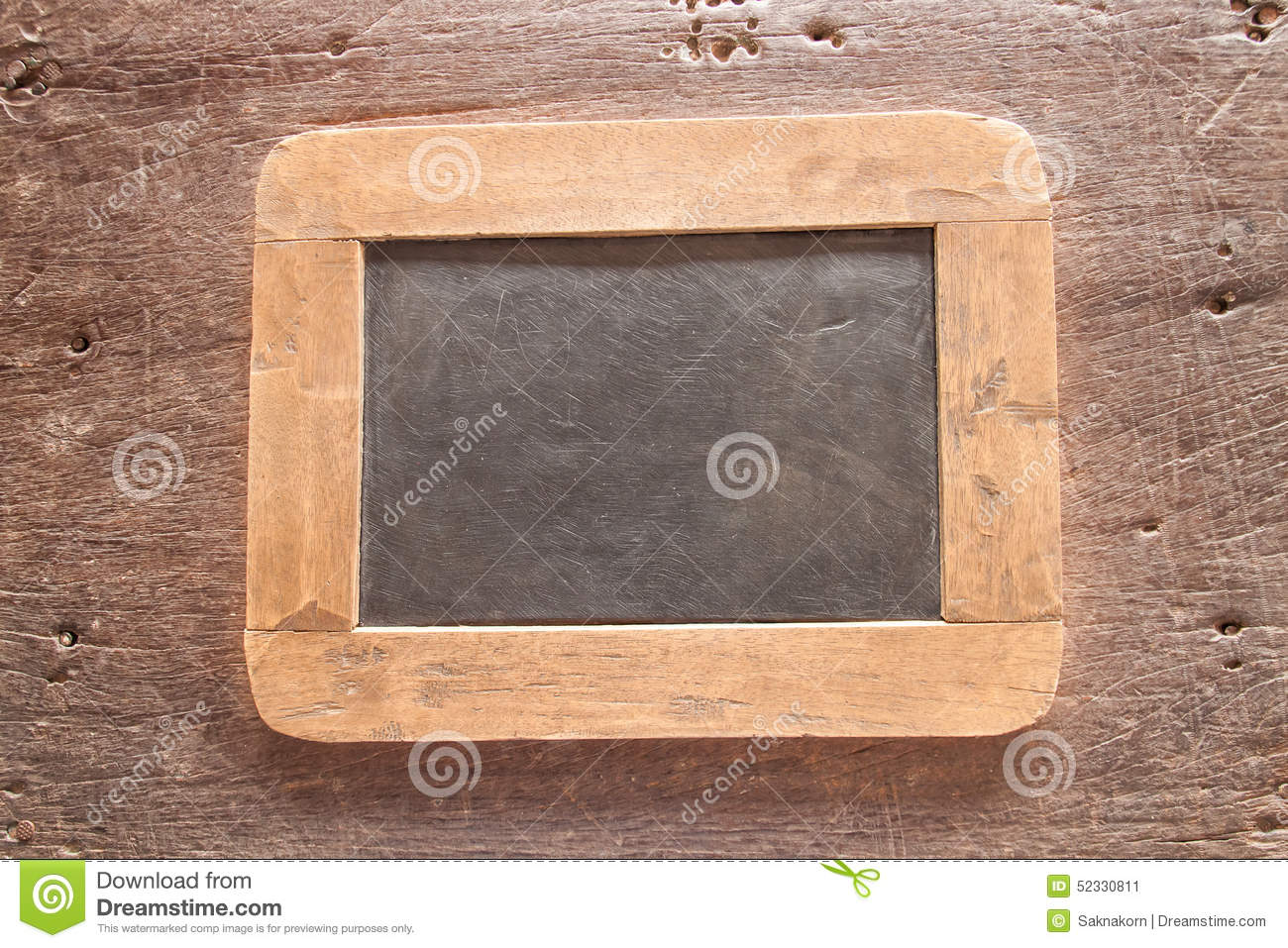 royalty free stock photo download wood framed chalkboard - Wood Framed Chalkboard