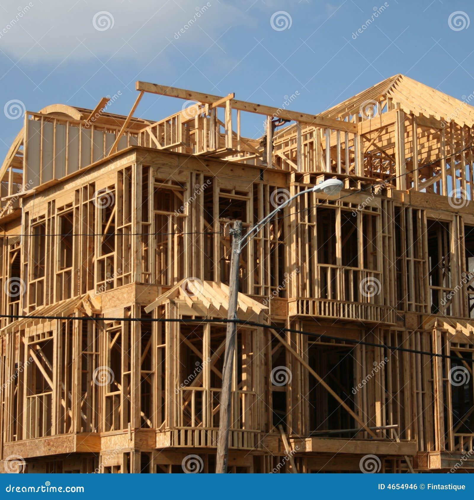 Royalty free stock image wood framed house