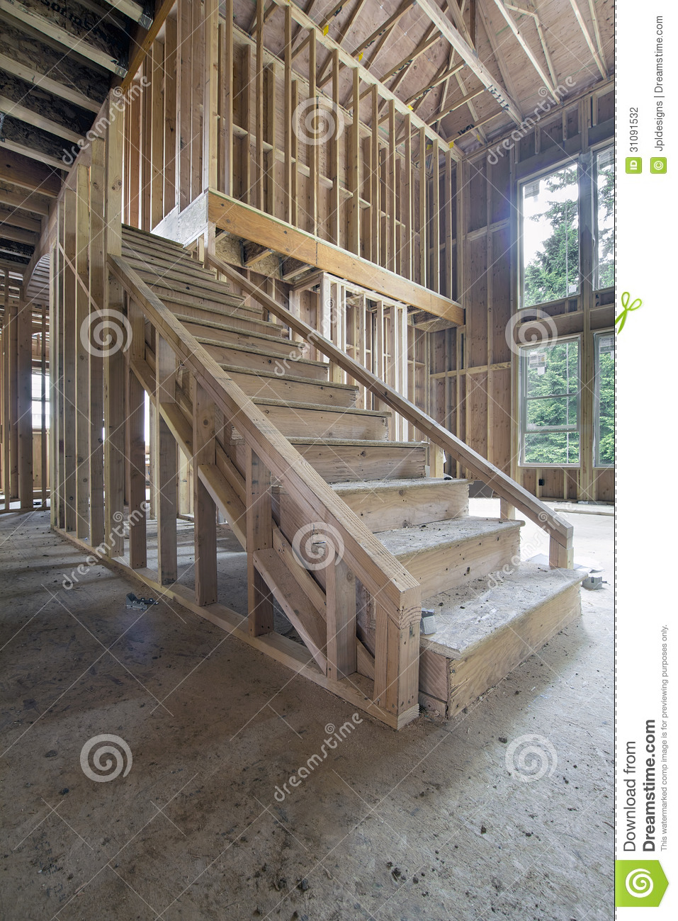 Roofer Vector Wood Framing For House...