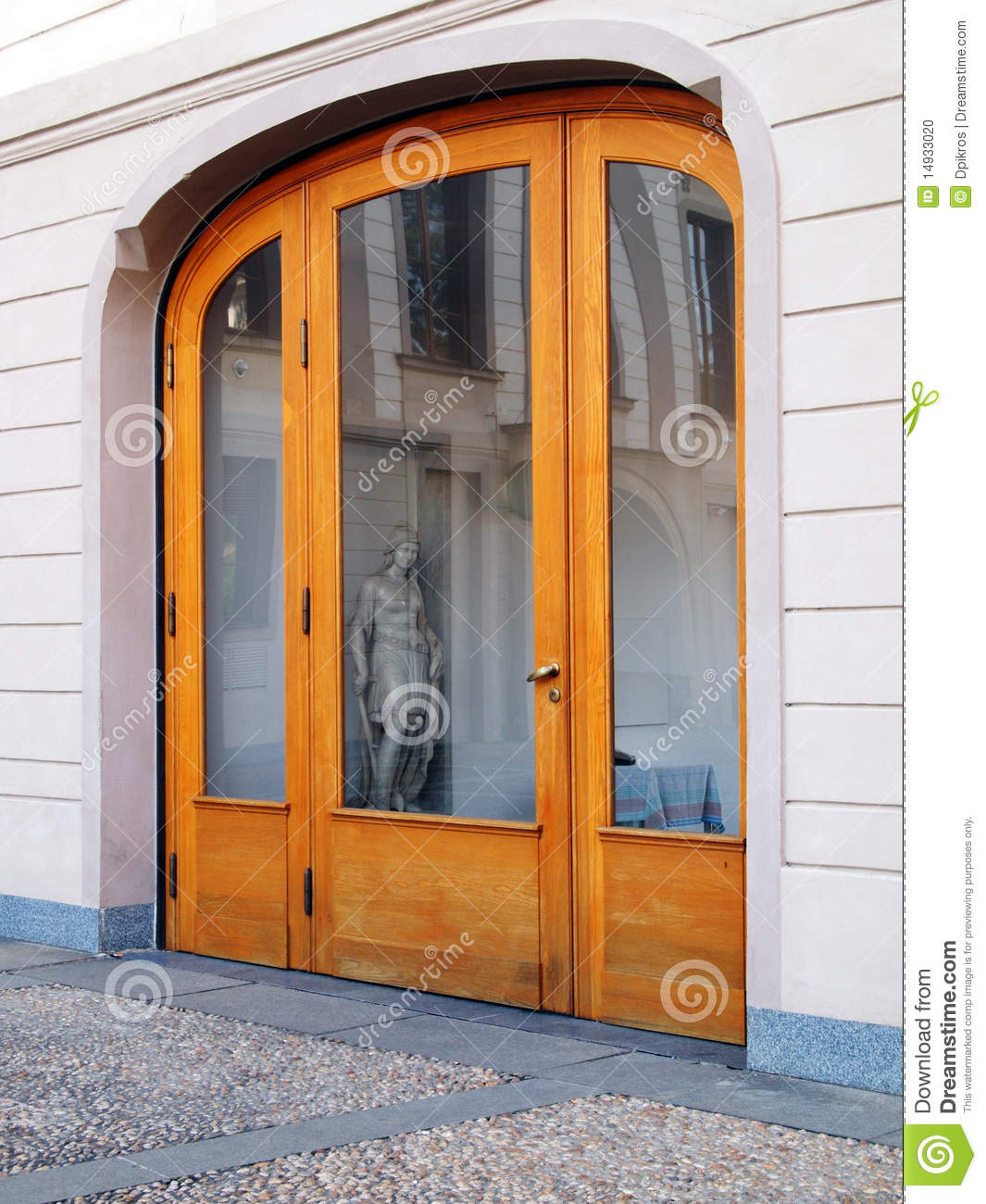 Wood glass arch door stock photo image 14933020 for Door z prague