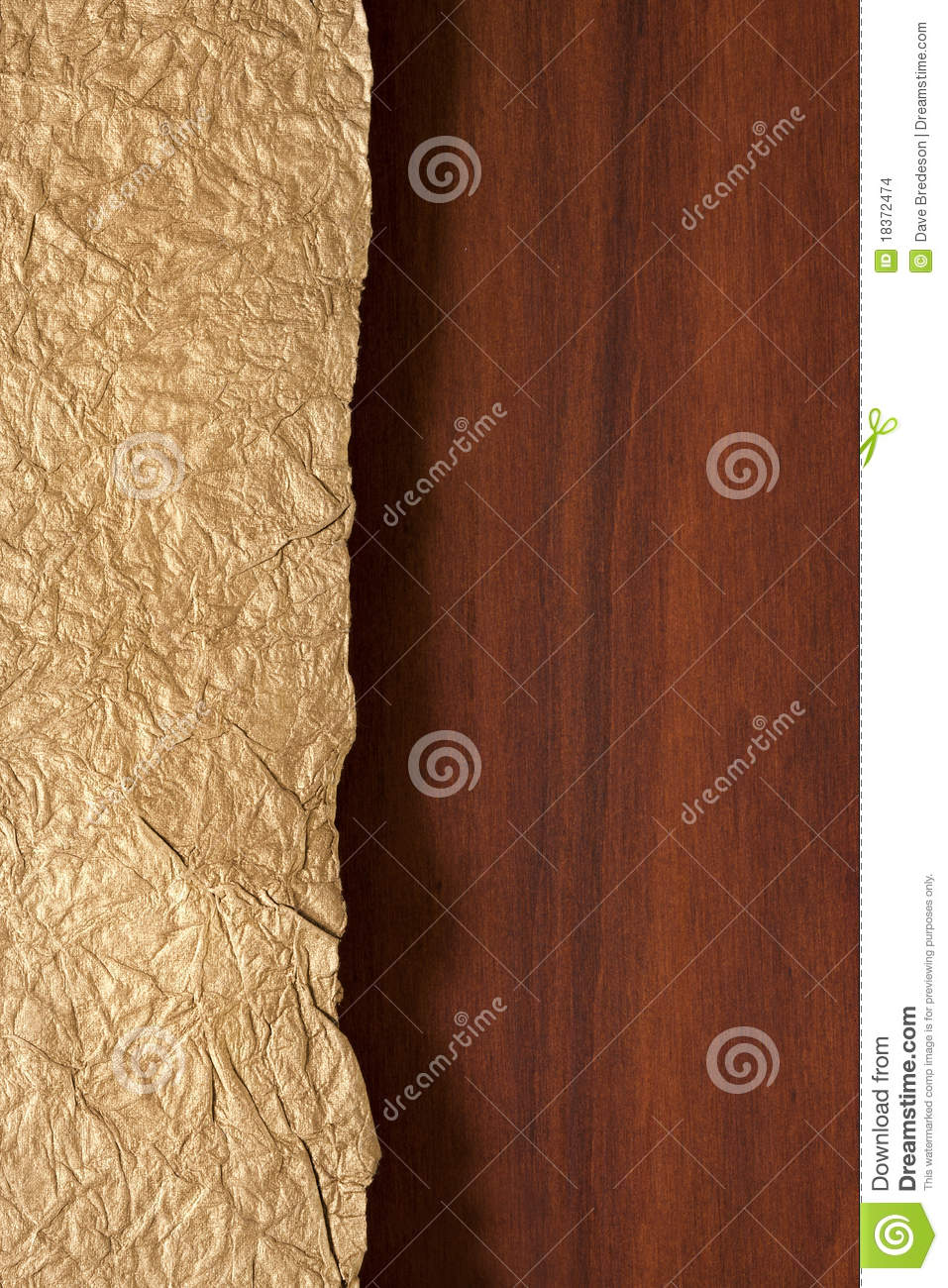 Wood and Gold Background