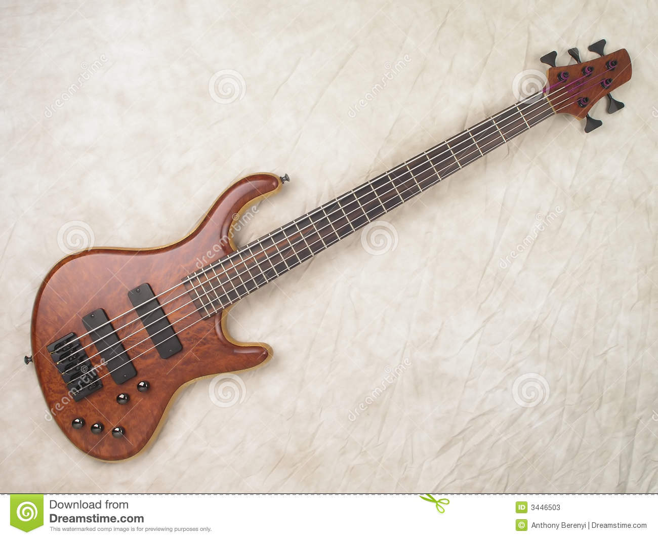 Wood grain bass guitar 1