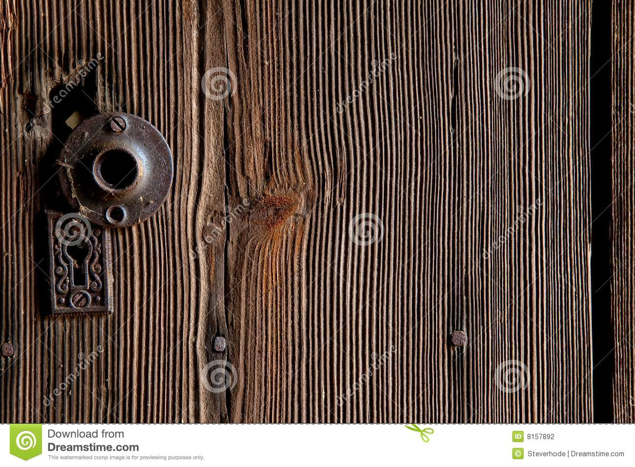 Wood Grain Door & Wood Grain Door stock photo. Image of knot lock handle - 8157892