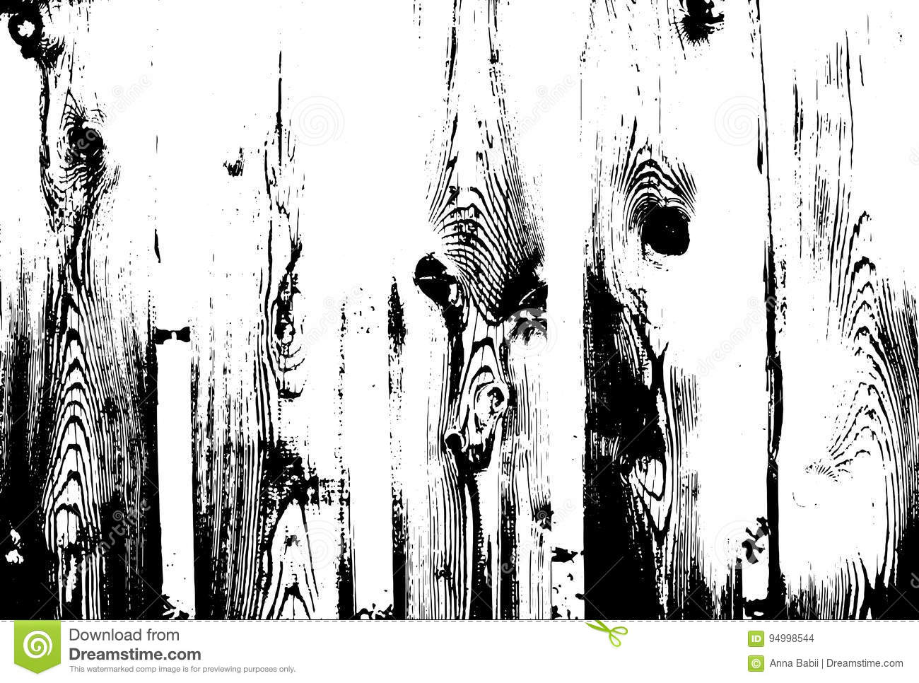 Wood grunge texture. Natural wooden isolated background. Vector illustration.