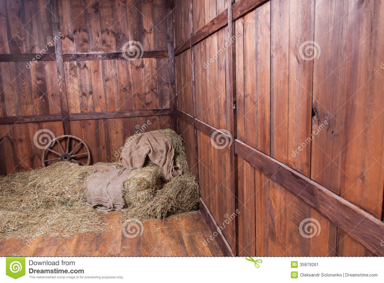 Wood And Hay Backgroun...