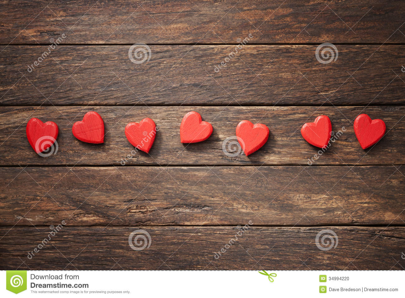 Wood Love Hearts Background