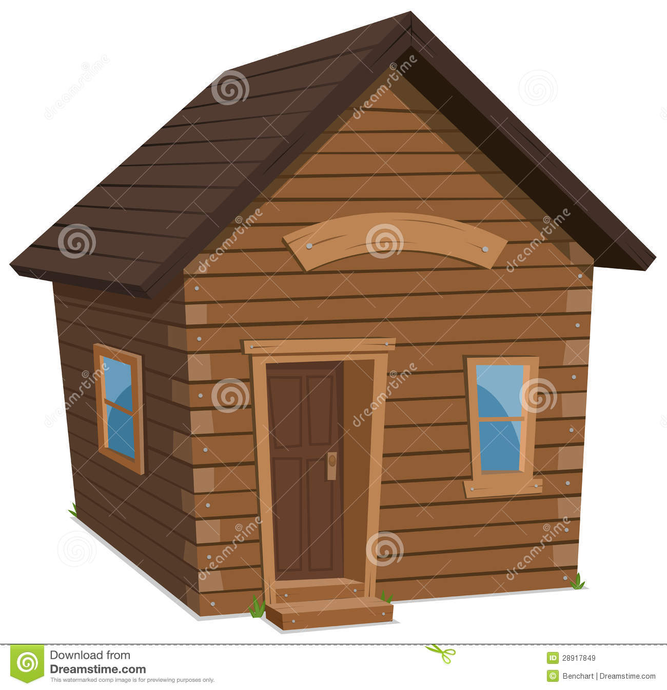 Cabin House Floor Plans Wood House Lifestyle Royalty Free Stock Images Image