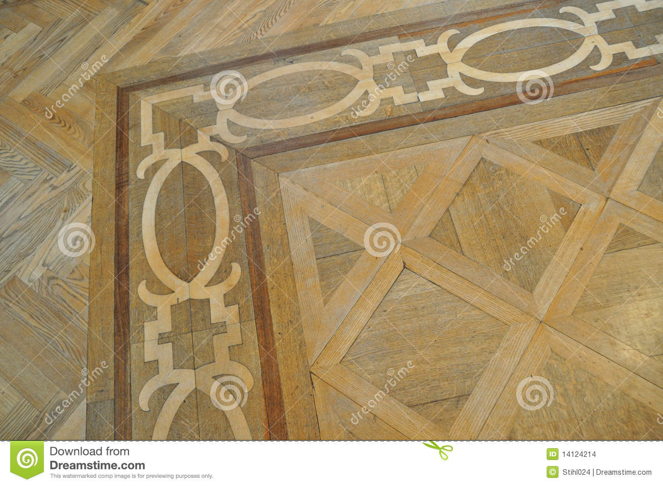 Wood Inlay Parquet Floor Stock Images - Image: 14124214