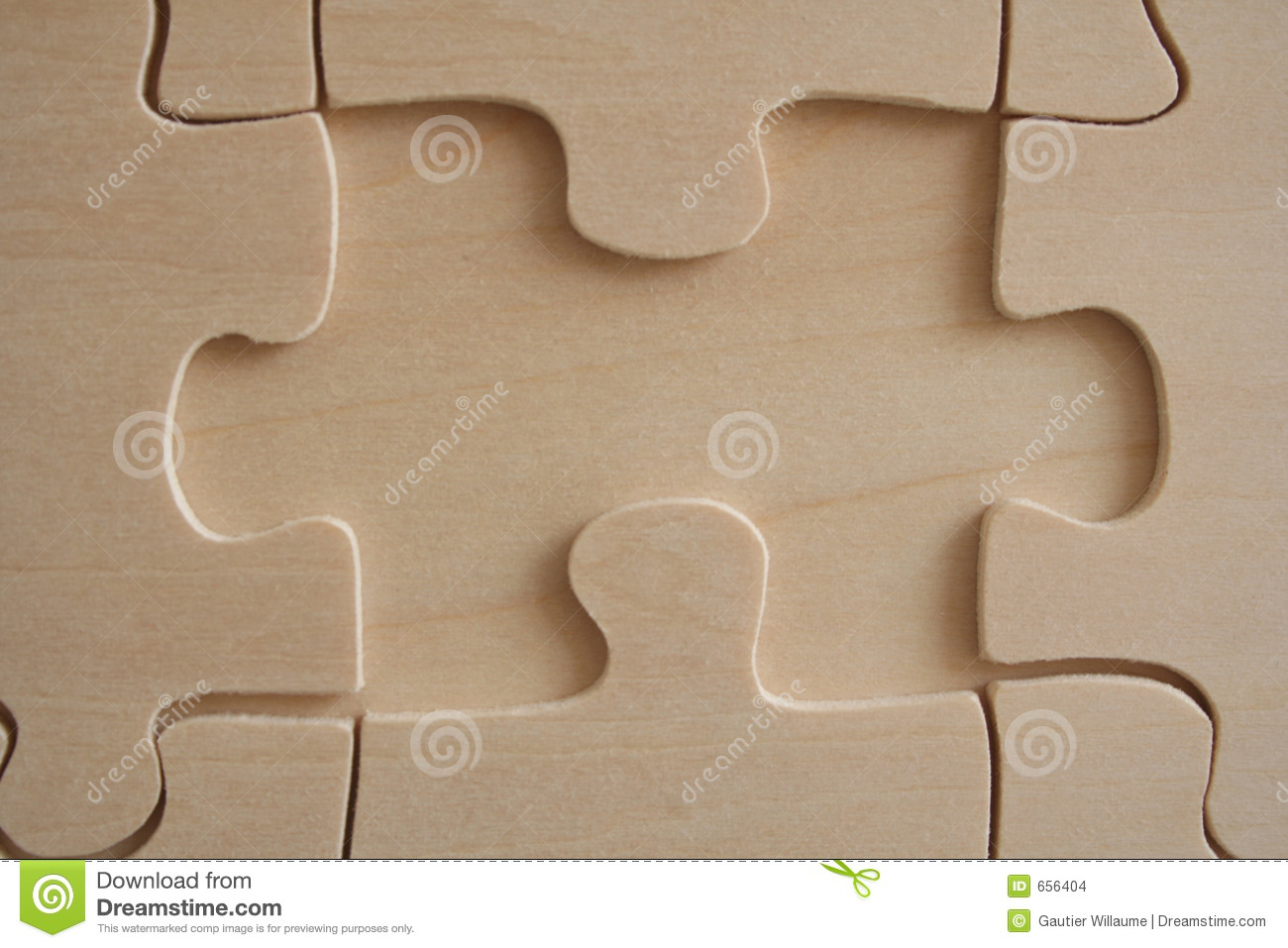 Wood jigsaw element