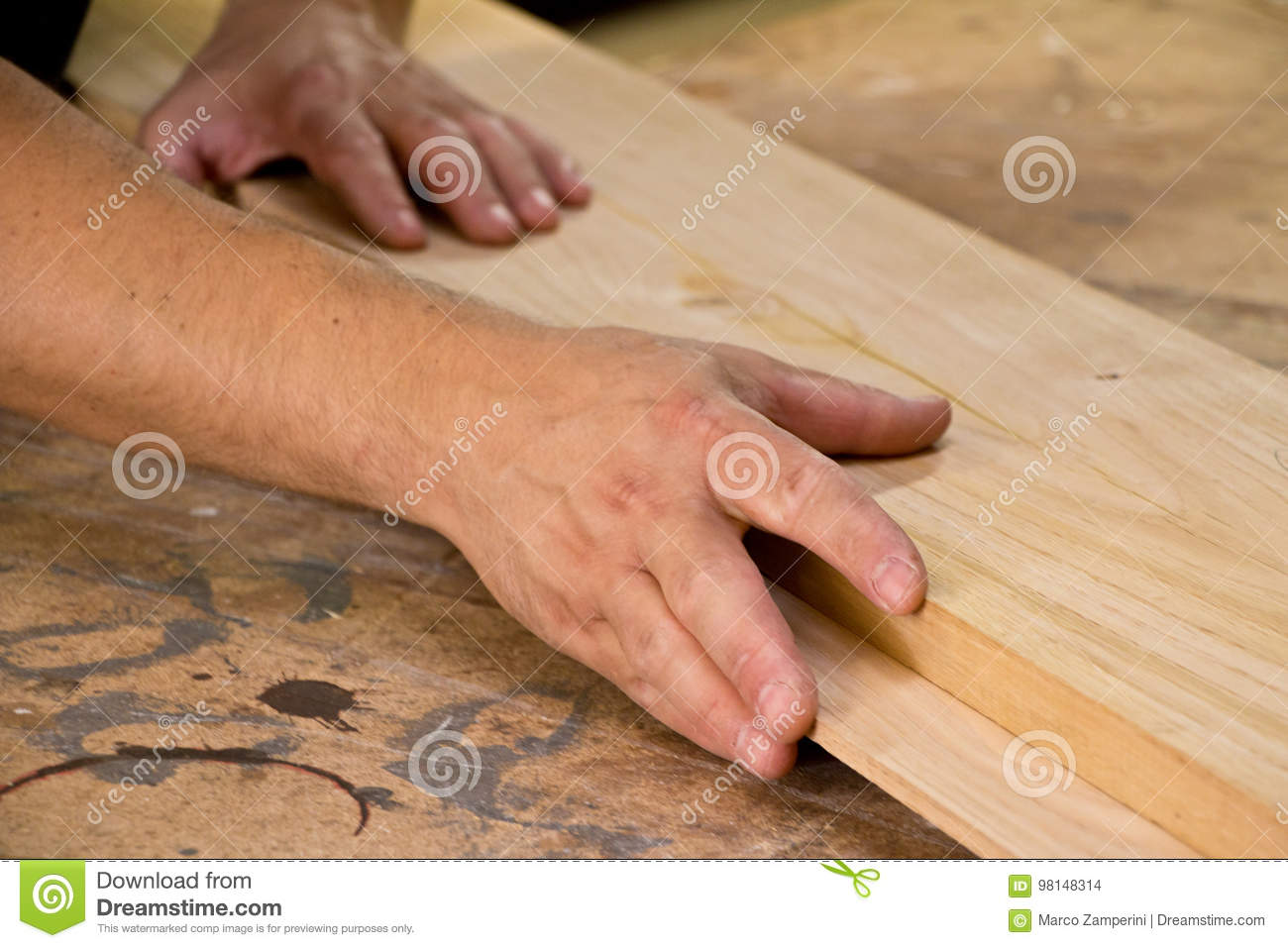 Wood joining stock photo. Image of texture, joiner, hand - 98148314