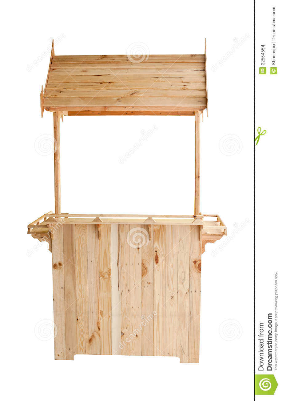Wood Kiosk Isolated White Background Stock Images Image 32554554