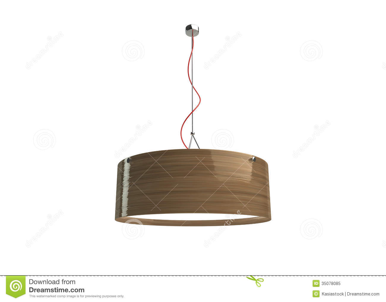 Wood lamp stock illustration image of decor designer for Ceiling lamp wood